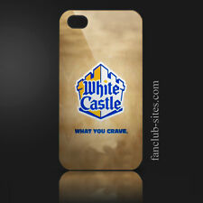 White castle hamburgers logo 3 food burger king iphone 4 4g 4s hard case cover