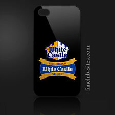 White castle hamburgers logo 4 food burger king iphone 4 4g 4s hard case cover