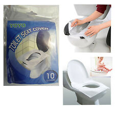 Safety Toilet Seat Covers Hygiene Protection Disposable Paper Pack of 10