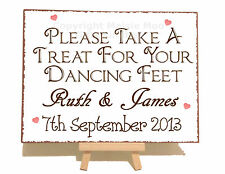 Personalizzata Dancing Feet Infradito WEDDING Metallo Vintage Shabby Targa Sign