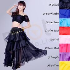 Belly Dance Dancing Costume Top Belt Skirt Outfit Sets Fancy Costumes Dress UK