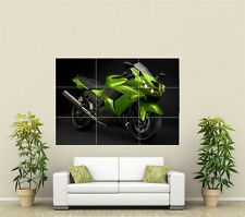 Kawasaki Green Motorbike Giant XL Section Wall Art Poster VE101
