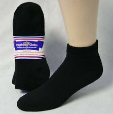Diabetic Low-Cut Socks - 12 Pair- USA Made - 80% Cotton