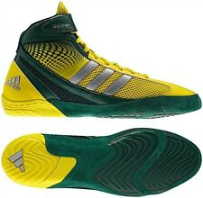 Adidas Response 3.1 Men's Adult Wrestling Shoes Forest Green/Yellow/Sil., Q33805