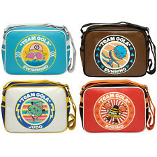WOMENS MENS GOLA TEAMS BRIGHT RETRO MESSENGER SCHOOL WORK SHOULDER BAG