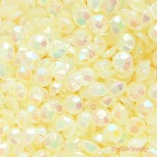 Light Yellow AB 2-7mm Jelly Acrylic Flatback Rhinestone Scrapbook Nail Art Craft