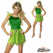 Woodland Fairy Costume Adult Fancy Dress Ladies Nymph Tinkerbell Outfit