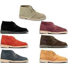 Roamers Mens Womens Ladies Suede Leather Lace-Up Comfy Casual Ankle Desert Boots