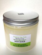 4 x Organic Dead Sea Salt Moisturising Face & Body Scrubs