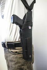 S&W 1911, STI Sparton 1911   Vertical Shoulder Holster with Double Mag Pouch