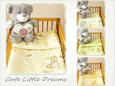 2 Piece Set / Pillowcase & Duvet Cover  Fit Cot/Cot Bed Baby Nursery Bedding Set