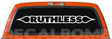 "RUTHLESS spade ""outline windshield decal / sticker choose color & size"