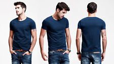 Mens T-shirts Henley Tee Basic Short Sleeve Exposed Stitching Cotton 12 Colors
