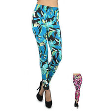 Soho Women's Platonic Floral Print Leggings (L8426)