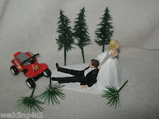 WEDDING PARTY CAKE TOPPER 4 WHEELER ATV YOUR CHOICE COLOR