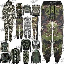 Womens Army Camo Jog Pant Ladies TrackSuit Jogger Cuff Gym Sport Jogging Bottoms