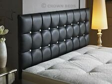 New Cubed Leather Headboard in 2ft6 3ft,4ft,4ft6,5ft,6ft with height option
