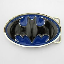 new western classic Batman Blue superhero mens metal belt buckle leather cool