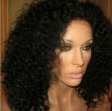 """14""""-20"""" full/lace front live curly glueless 100% remy human hair long wigs"""