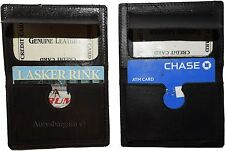 New Slim Leather business card case, ID case. Thin card holder, credit card case