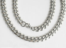 316L Men's Stainless Steel Necklace Chain Bracelet Round Polishing NW003 in USA