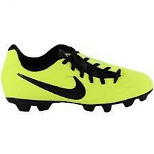 Shoes Junior Soccer Field Artificial JR NIKE T90 SHOOT IV FG yellow 472567 *