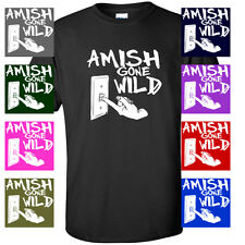Amish Gone Wild head FUNNY mafia cheese MENS T-SHIRT