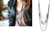 Vintage Style Bohemia Women Multilayer leaves Long Chain Necklace 3 Colours
