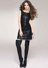 Bebe 2B Womens Lasercut Leatherette Sleeveless Dress $159