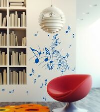 Music Note wall art sticker wall decal decor childrens living room vinyl