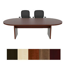 8 Foot Racetrack Conference Table Cherryman Amber Cherry Mahogany Mable Walnut