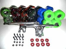 180mm Polish Trucks + 70mm Wheels Drop Through longboard skateboard complete raw