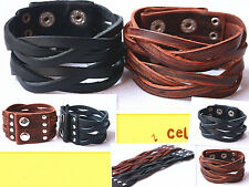 1pcs New Styles Wholesale Lots men Leather Bracelet Adjustable Bracelet J030-031