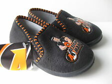 Boys Size 7 - 11 Black ACTION MAN Slippers NEW