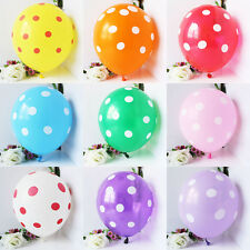 10/25/50 Pieces 12-inch Polka Dot Balloons Wedding Party Christmas Decorations