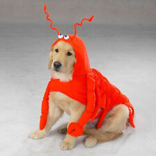 Orange Lobster Paws Polyester Dog Costume By Casual Canine Larger Sizes Unisex