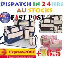 5 Pcs Multi Baby Diaper Nappy Changing Bag Brown, Navy Blue,Pink,purple,red