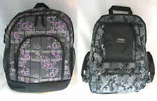 "Backpacks Print Side Pocket School Student Book Travel Bag, 17-1/2"" x 14"" x 8"""