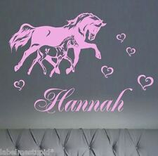Extra Large Horse with Custom Name Bedroom Wall Sticker  * 4 DESIGNS *  Pony