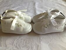LITTLE BOYS/GIRL BABY/TODDLER CHRISTENING BOOT/SHOE MY SPECIAL DAY,RIBBON LACES