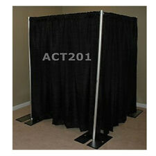 8 FOOT TALL PIPE AND DRAPE PRIVACY ROOM KIT WITH COMMANDO DRAPES - DRESSING ROOM