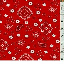 """60"""" Poly/Cotton Bandana Fabric-15 Yards Wholesale by the Bolt"""