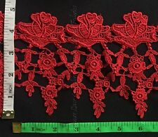 5 Inch Rose Venise Lace Trim, Beautiful Rose with Mini Flowers, 2 Yards