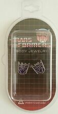 AUTOBOTS TRANSFORMERS DECEPTICONS STUD EARRINGS OFFICIAL LICENSED NEW IN BOX!