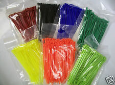 """4"""" Nylon Cable Zip Tie 18 lb 500 Count Your Choice of Color"""