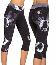 Margarita Activewear CAPRI White Batik Model Leggings black supplex