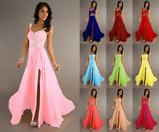 Long Formal Chiffon Wedding Evening Party Ball Gown Prom Bridesmaid Dress 6-16