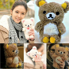 New Fashion 3D Cute Teddy Bear  Plush Doll Toy Cover Case For Apple iphone 4 4S
