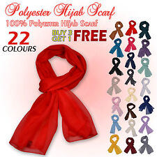 NEW WOMEN LADIES PLAIN FASHION SOFT SCARF HIJAB NECK SCARVES WRAP