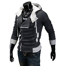 Assassin's Creed III Desmond Miles Hoodie Costume Coat Cosplay Hoody Dark Grey